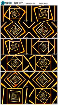 黄色动感劲爆四边形线条几何舞蹈led视频素材