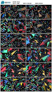空间彩色几何水晶方块led背景视频