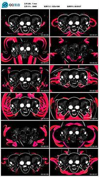 万圣节题材三个骷髅舞题材led背景视频