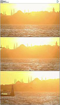 伊斯坦布尔海鸥飞行实拍视频素材