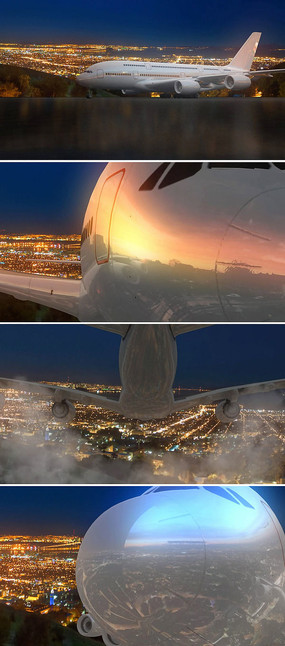 飞机飞行视频素材