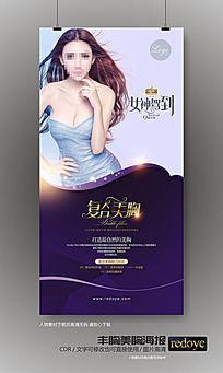 韩式高端简约丰胸美胸展板