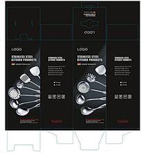 黑色不锈钢厨具包装盒设计