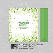 绿茶茶叶清爽礼品包装手提袋设计