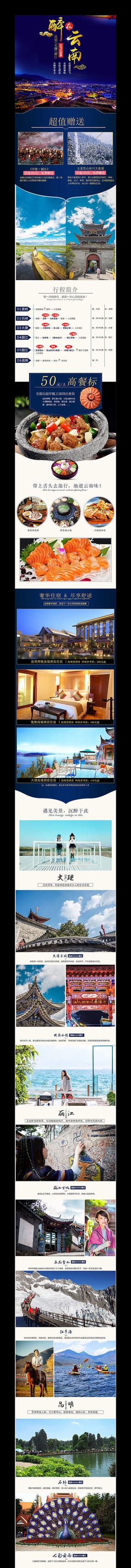 淘宝云南旅游详情页描述模板 PSD