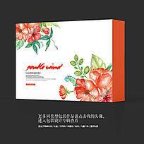 中国风水墨花卉艺术高档包装盒设计