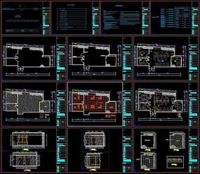 办公室全套CAD施工图
