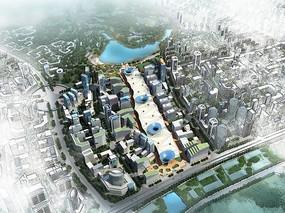 城市规划建筑鸟瞰图