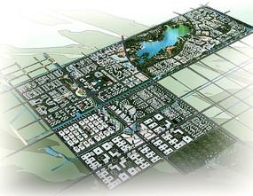 城市规划建筑全景
