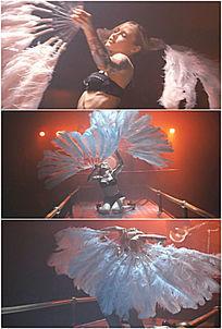 性感舞女美女跳舞扇子实拍高清视频