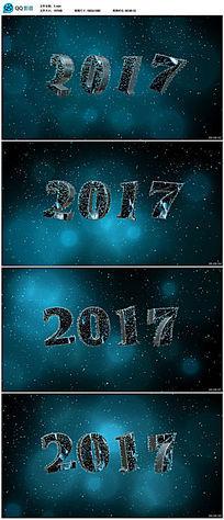 3d立体2017年新年视频背景