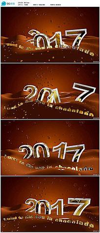 2017新年背景视频素材