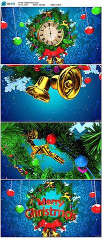 三维圣诞节开场片头视频素材