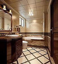 别墅精装修卫生间3DMAX模型素材下载附贴图