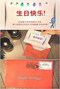 卡通生日快乐祝福电子贺卡动画视频