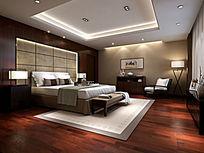 中式风格卧室3D模型素材下载附贴图