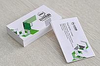 绿色抽象广告名片