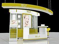 化妆品展柜模型