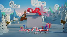 卡通圣诞礼物背景视频