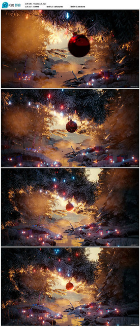 圣诞节背景视频