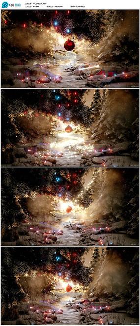 圣诞节晚会背景视频