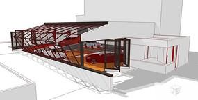 4S汽车店建筑室内模型设计