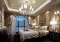 宾馆欧式风格套房3DMAX模型素材下载附贴图