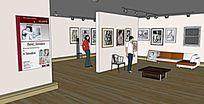 画廊展厅室内模型
