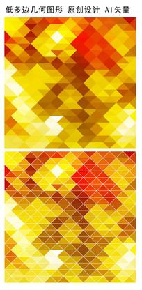 黄色规则棱形抽象企业背景