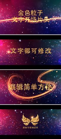 金色光带粒子企业文字宣传片头模板