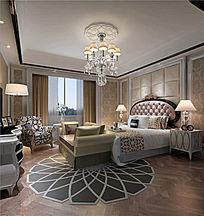 酒店贵宾房3DMAX模型素材下载附贴图欧式风格