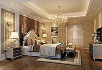 酒店套房欧式风格3DMAX模型素材下载附贴图