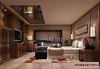中式风格卧室3DMAX模型素材下载附贴图