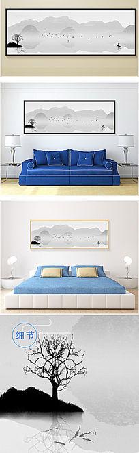 新中式简约山水装饰画