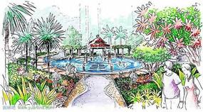 公园喷泉 JPG