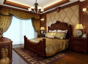酒店套房欧式风格3DMAX模型素材下载(附贴图)
