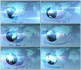新闻栏目蓝色地球背景视频