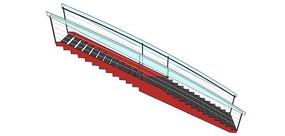 现代室外红黑楼梯设计