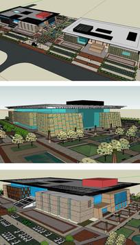 SU博物馆纪念馆美术馆建筑SKP模型