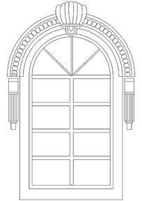 欧式石膏线条门