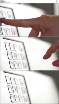 自动取款机输密码实拍视频素材
