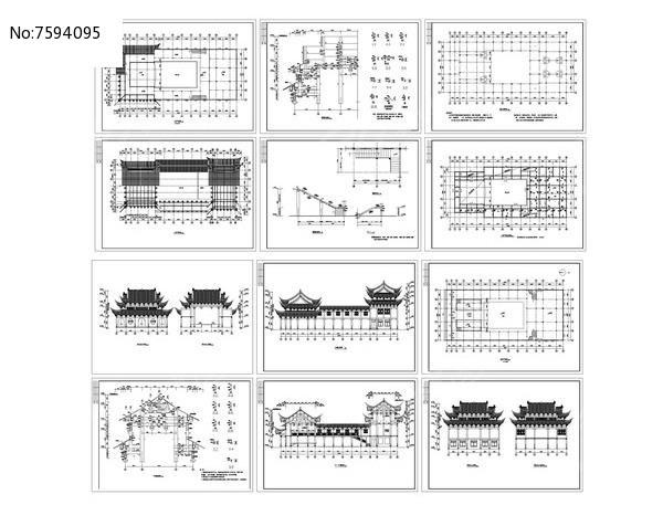 古建筑祠堂戏台设计图片