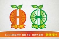 鸿橙标志设计模板