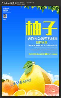 创意简约柚子海报设计