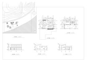 二层咖啡馆建筑室内方案图