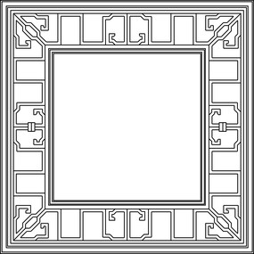 方框装饰CAD图案