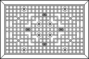 方框装饰设计CAD