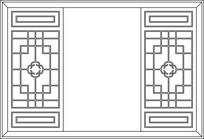方形窗户CAD图案