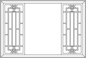 方形框鏤空圖案
