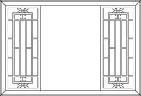 方形框镂空图案